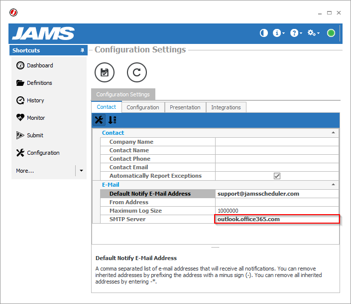 Email Alerts in JAMS – JAMS Scheduler